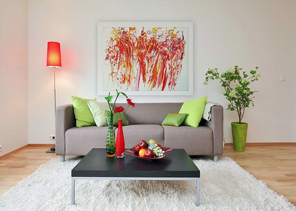 Beautifull flowers, red and green interior, modern art, affordable art,